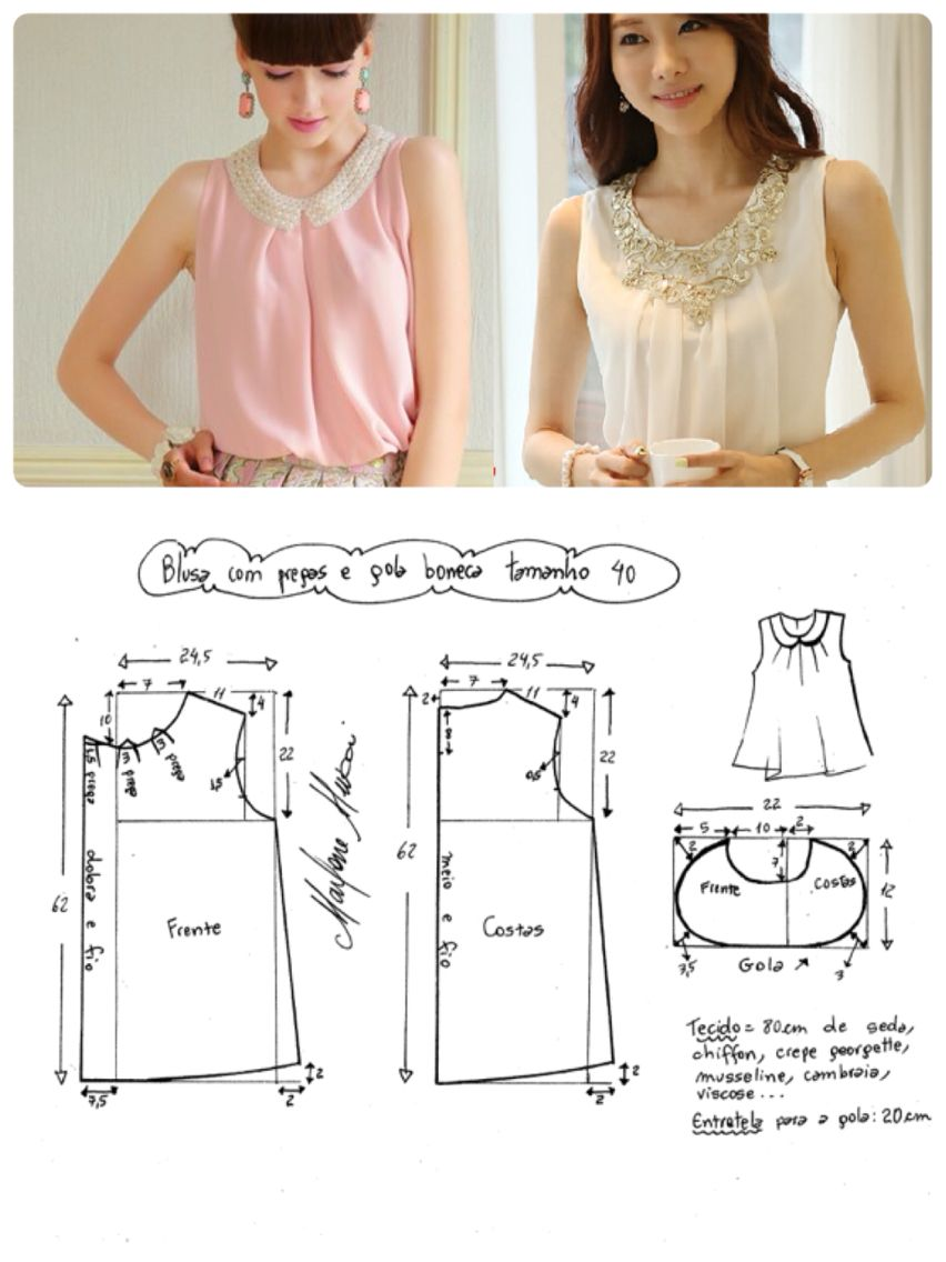Siiluwt | Patrones | Pinterest | Costura, Moldes y Blusas
