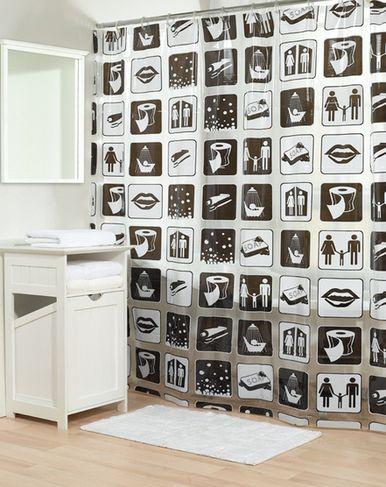 Retro shower curtain , black and white retro shower curtains - Aw I ...