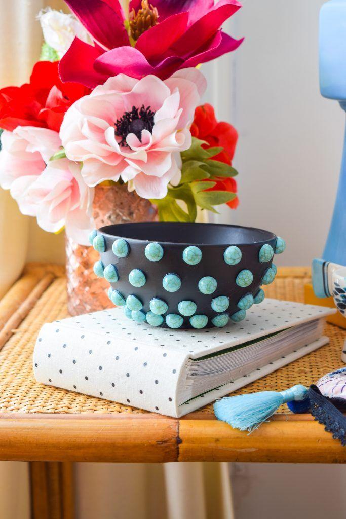 DIY Turquoise Beaded Jewelry Dish