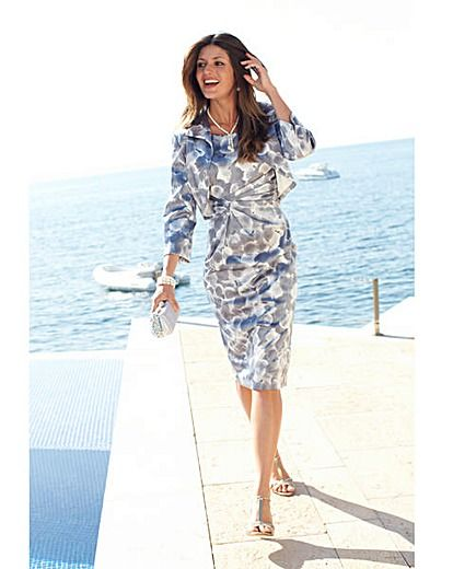 beautiful silver grey Joanna Hope Print Dress and Jacket for ...