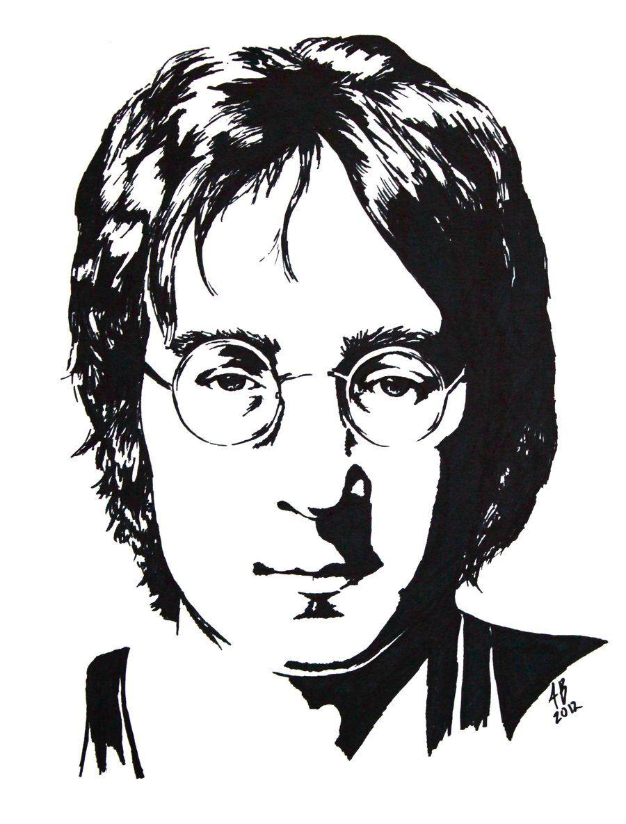 Джон леннон черно-белые картинки климентьевич структурирует