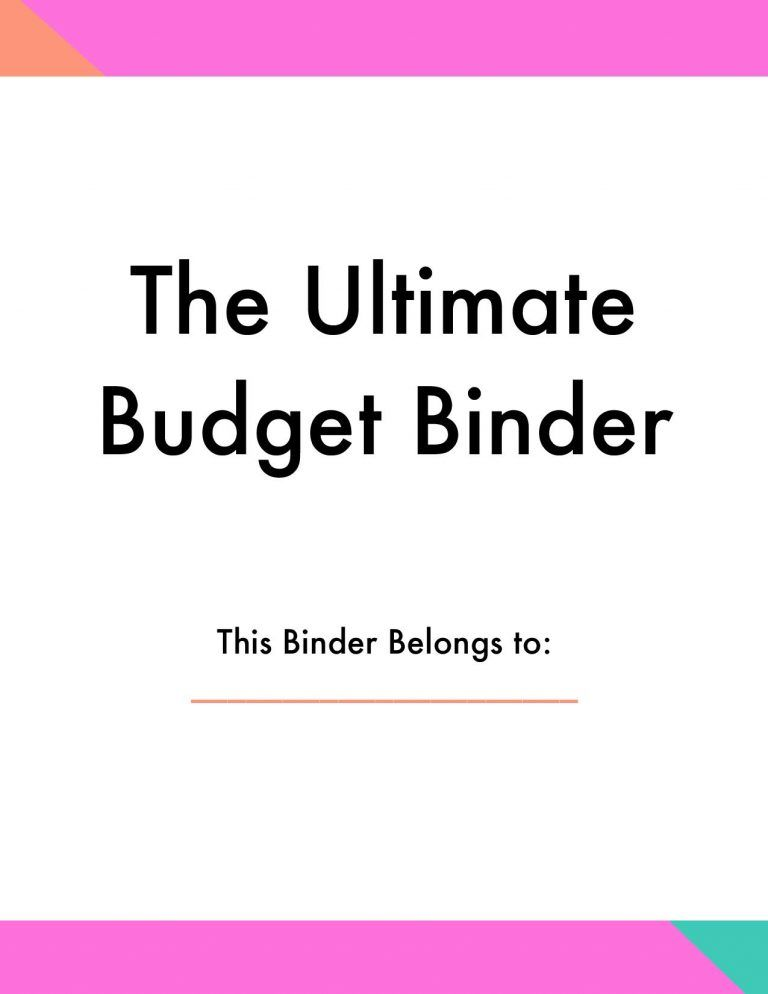 The Budget Binder That Transformed Our Finances Budget