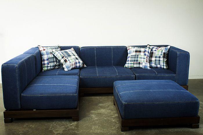 denim sectional sofas | billie joe denim sectional sofa | rhapsody