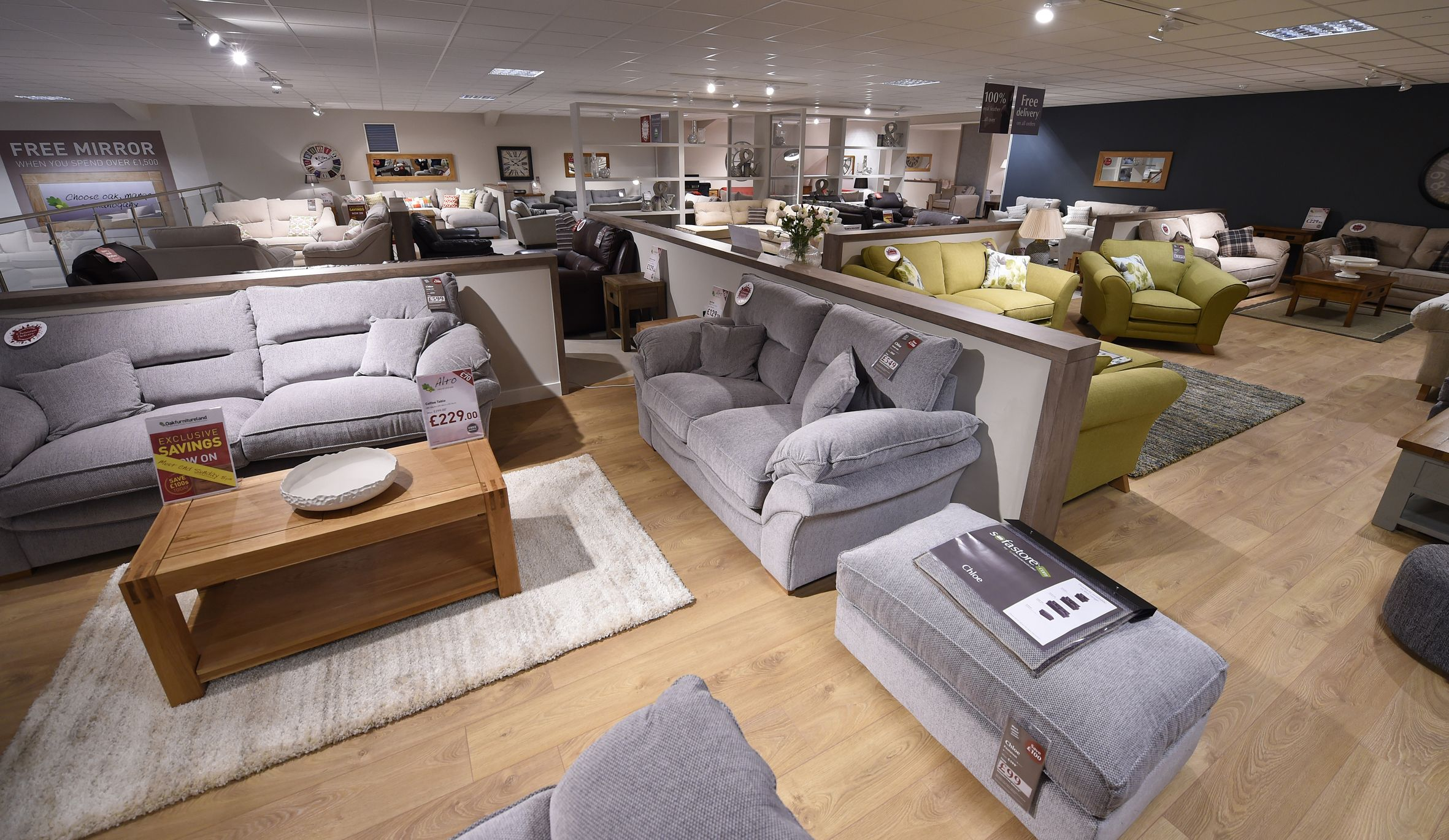 A Peak in our New Sofastore section featuring the Chloe Sofa Range