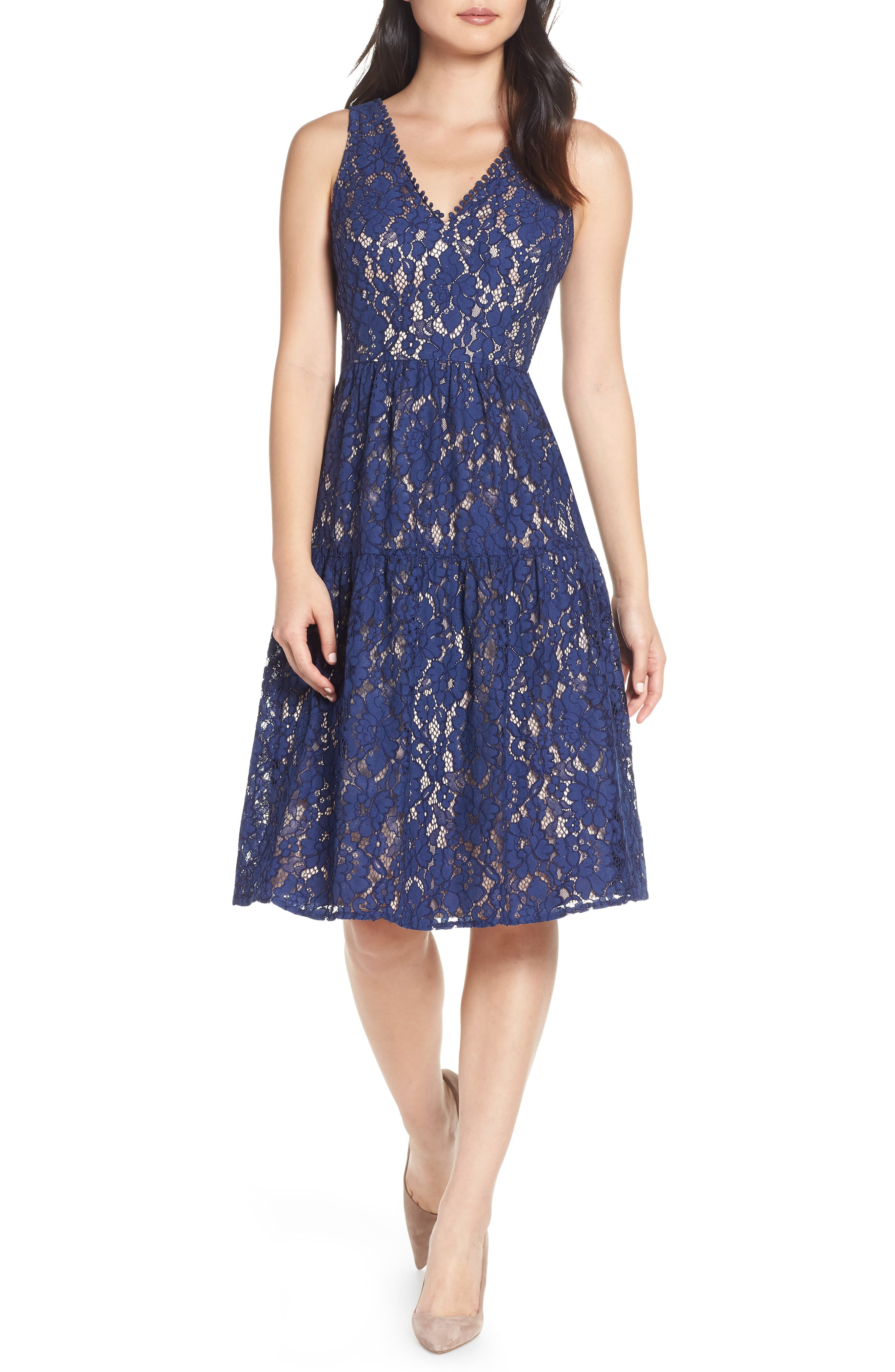 Womens Eliza J Lace Fit Flare Dress Size 18 Similar To