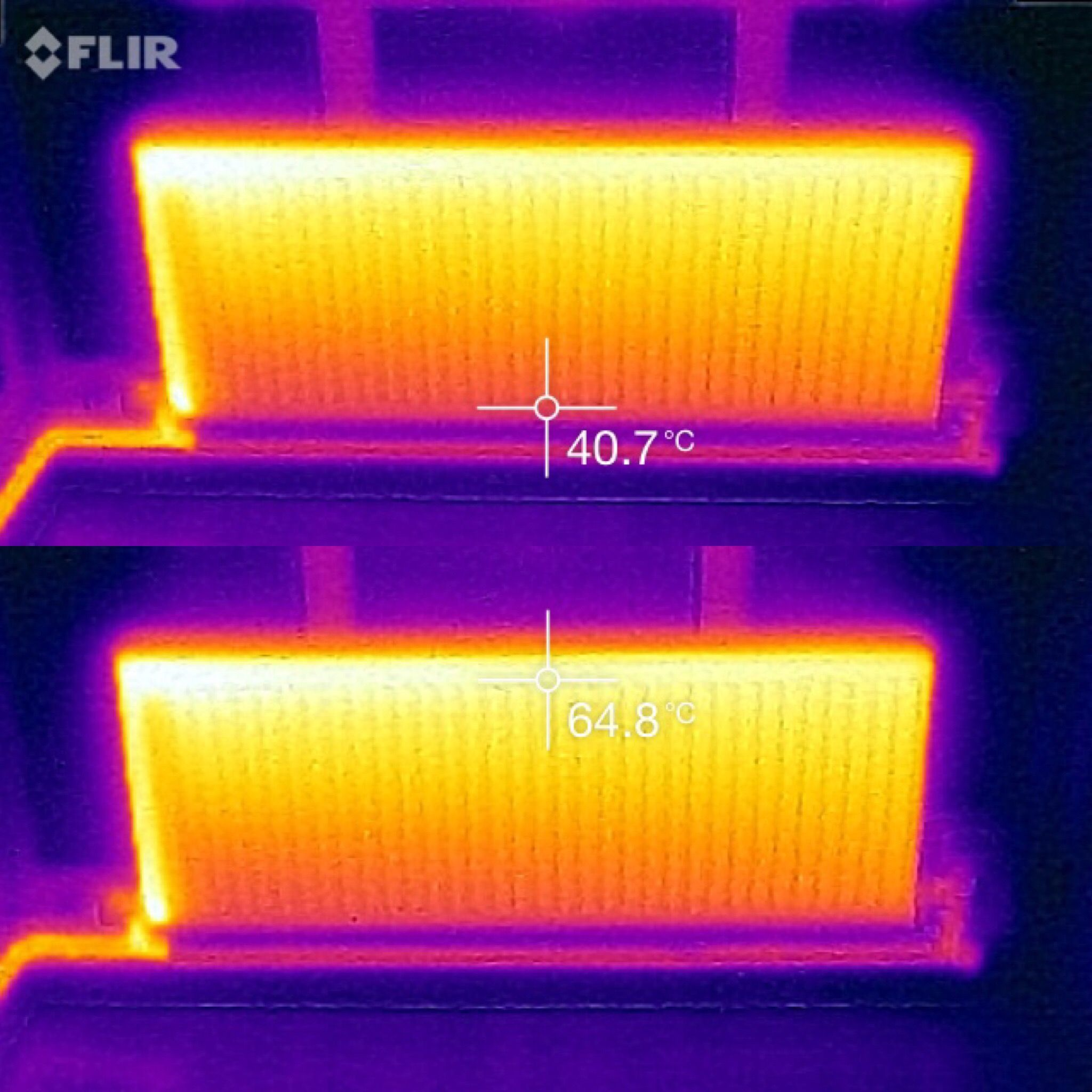 This Is The Thermal Image Of A Radiator In Need Of A Powerflush The Difference In Temperature Is Clear To See Due To Thermography Boiler Installation Thermal
