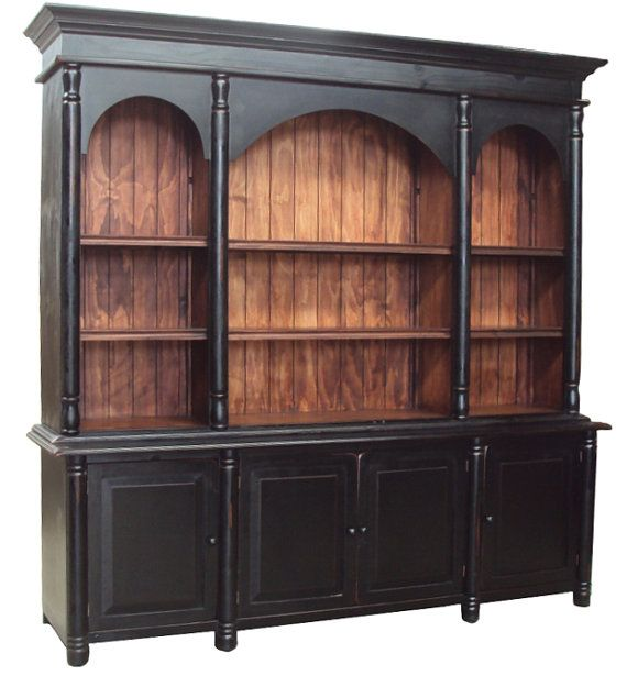 Antique Black Bookshelf Made By Hand Solid Reclaimed100yearold 219900