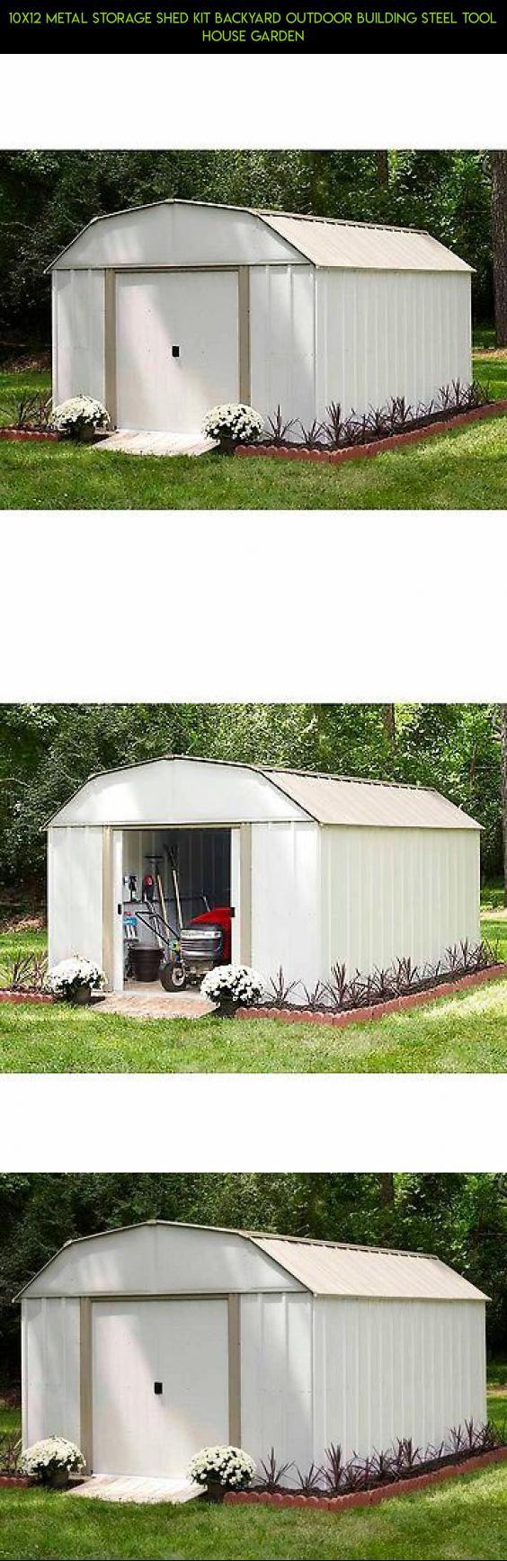 10x12 metal storage shed kit backyard outdoor building steel tool