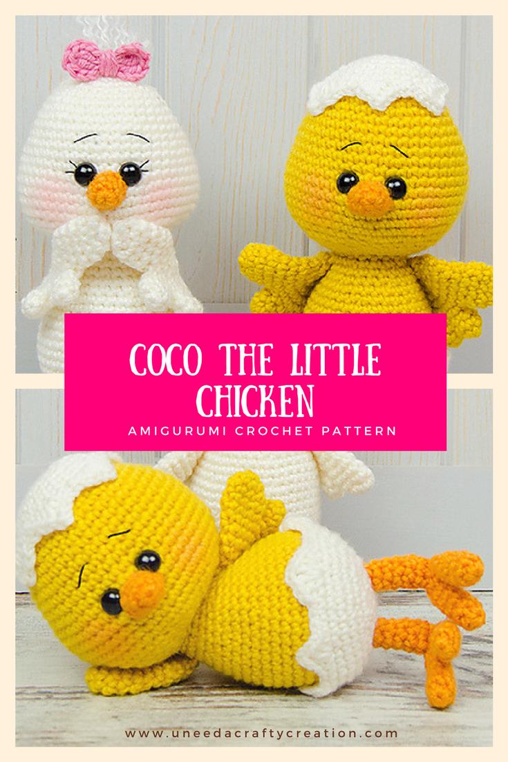 Coco the Little Chicken Amigurumi Crochet Pattern - Coco the Little ...