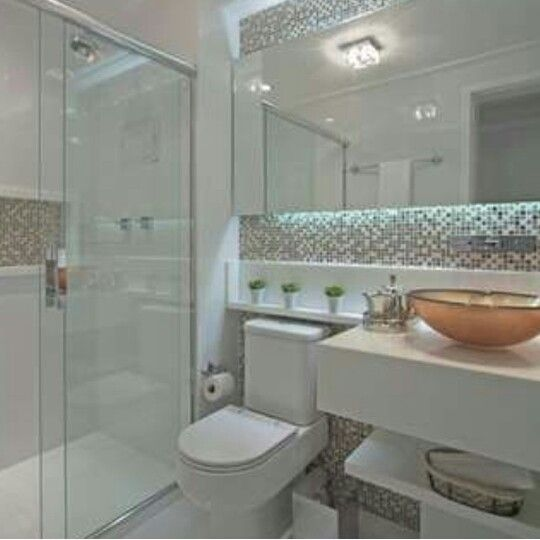 Banheiro  Tendências 2017  Pinterest  Banheiros, Banheiro pequeno e Lavabos -> Banheiro Pequeno Diferente