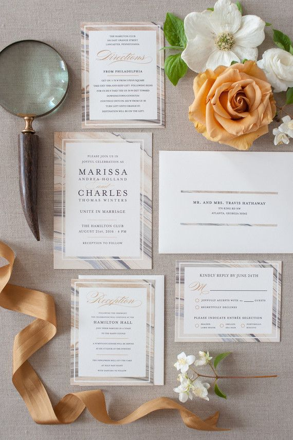 Marble Invitations @ Minted   Floral Styling by Gavita Flora ...