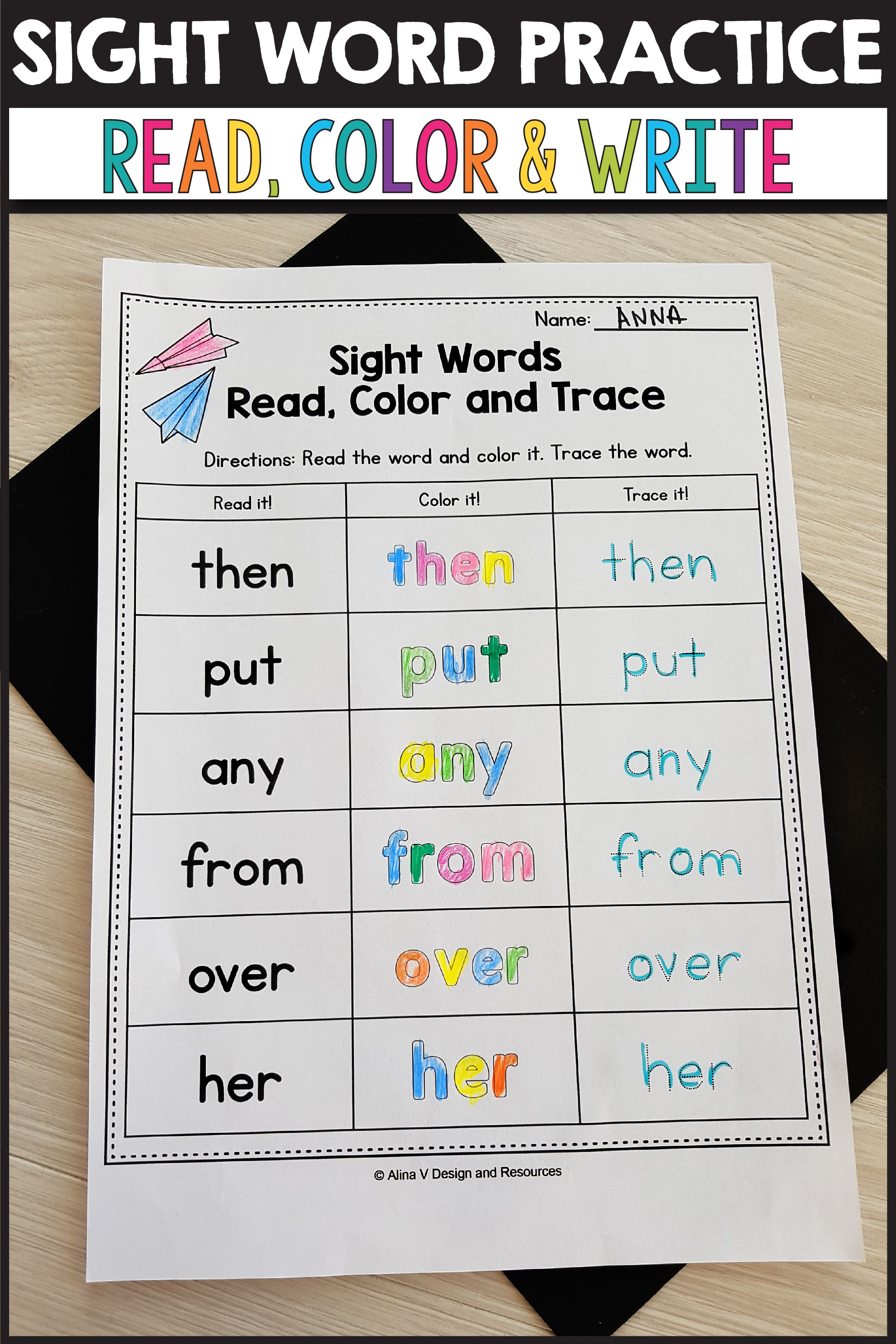 Practice Sight Words At Home Rainbow Writing For Sight Words Read Color Trace Sight Words Sight Word Reading Word Activities [ 3826 x 2551 Pixel ]