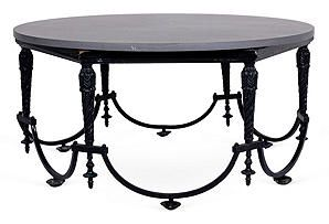 Windsor Smith  Outdoor Iron & Stone Coffee Table    $949.00