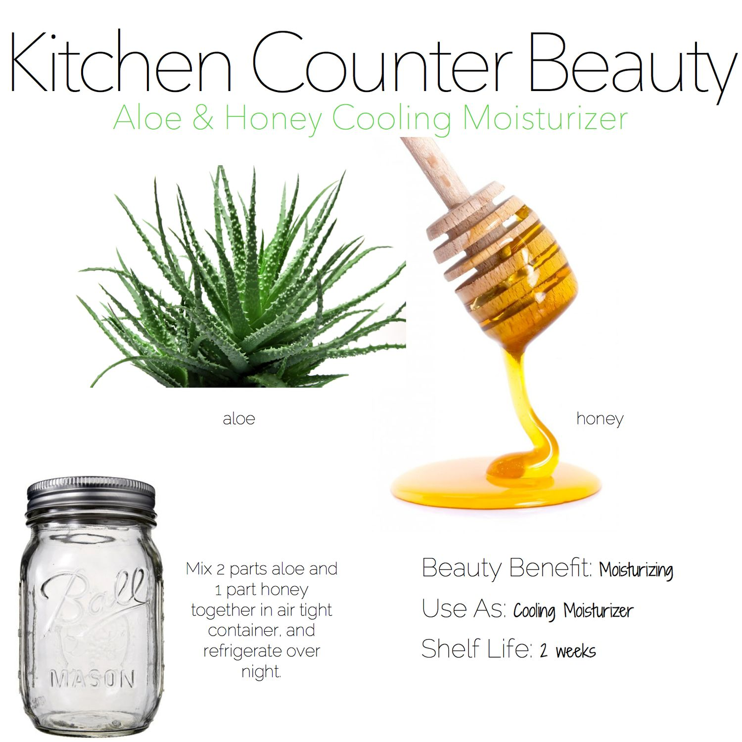 Make it yourself-- Aloe and Honey cooling moisturizer from @obs form Gadabout.com