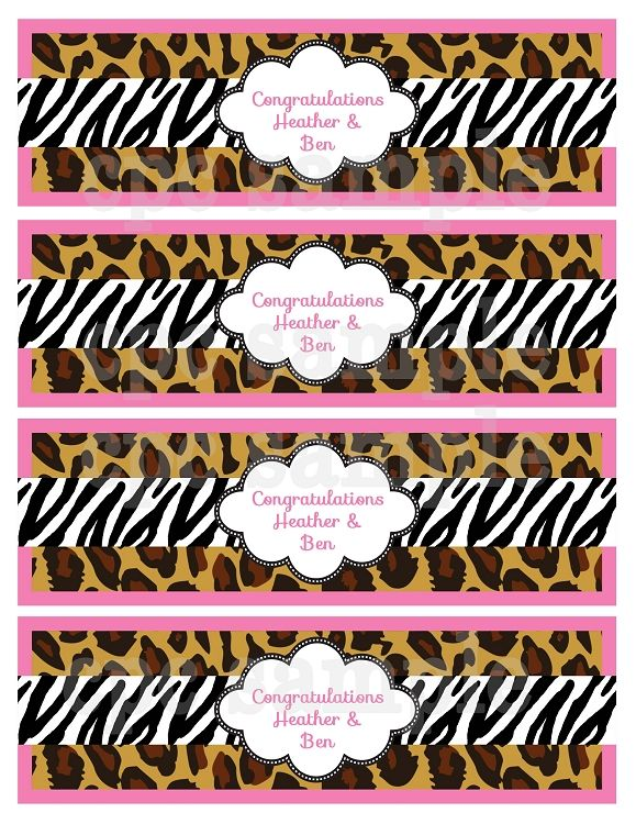 Leopard Zebra Print Baby Shower Invitations