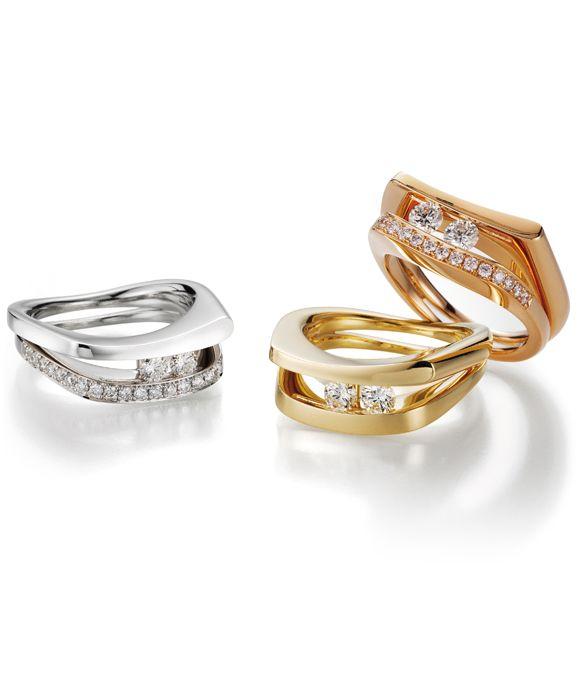 INFINITY - Ring mit beweglichen Diamanten