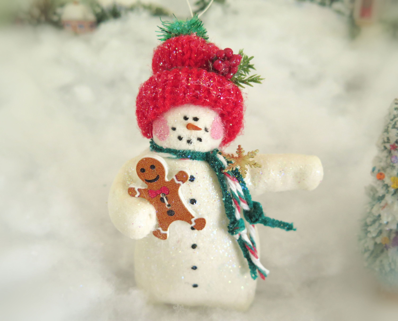 Handmade Snowman Ornament 4 Christmas Snowman Ornament Etsy Handmade Christmas Snowman Ornaments Handmade Christmas Ornaments