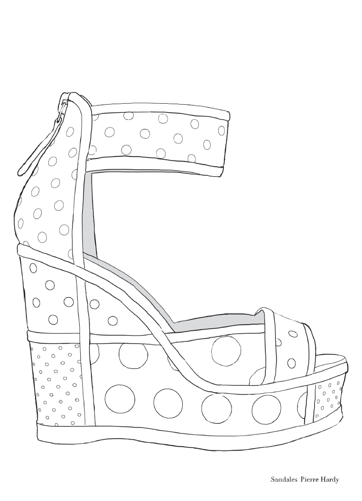 Pierre Hardy Fashion Shoe Coloring Page Coloring Books Coloring Pages Colouring Pages