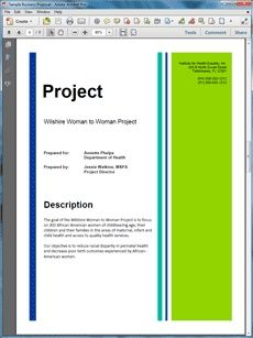 Grant Proposal Title Page Example - find free grant info at