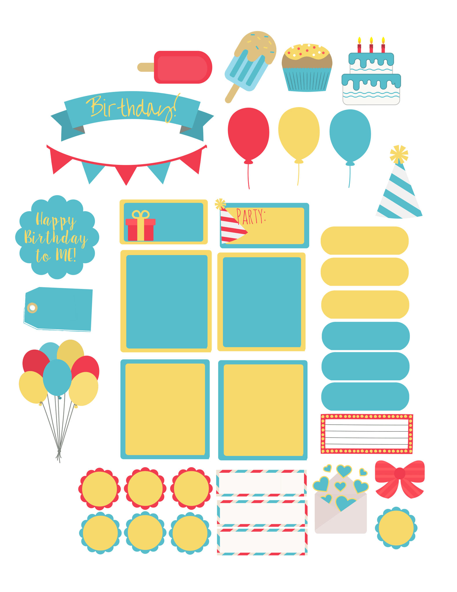 Birthday week layout