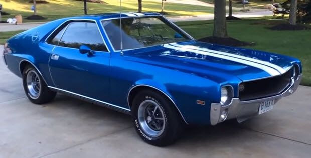1969 Amc Amx Video Walk Around Oldcars Site Muscle Cars Classic Cars Muscle Amc