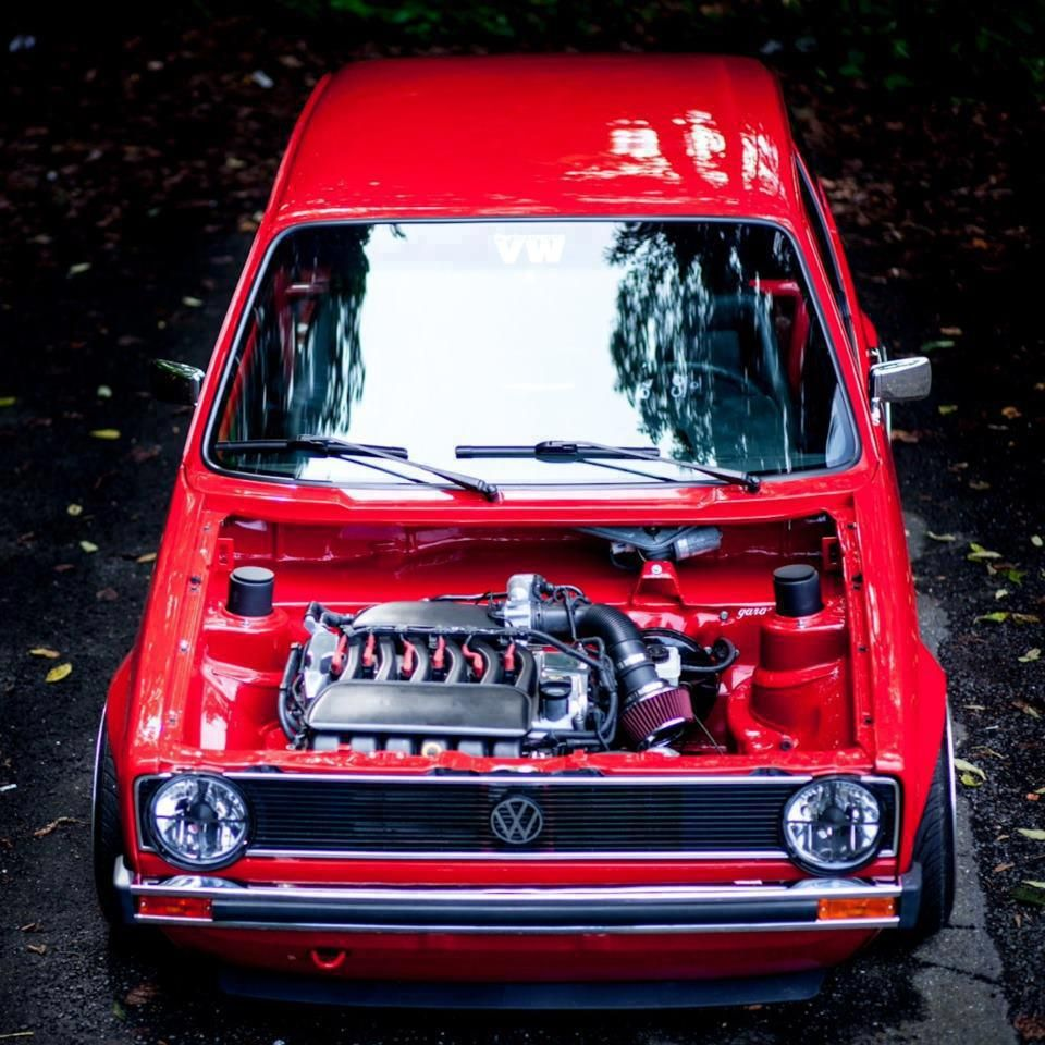 Vw Golf 1 Red Devil: Mk1 Vr6. Clean Engine Bay