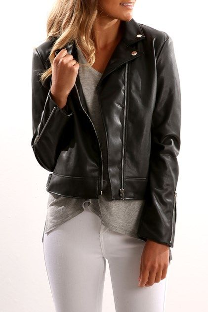 Bowie Vegan Leather Jacket Black Jackets Jackets For Women