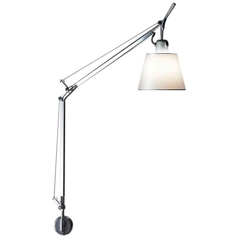 Tolomeo S Bracket Lamp Parch Shade By Michele De Lucchi And Giancarlo Fassina In 2020 Bracket Lamp Lamp Fabric Shades