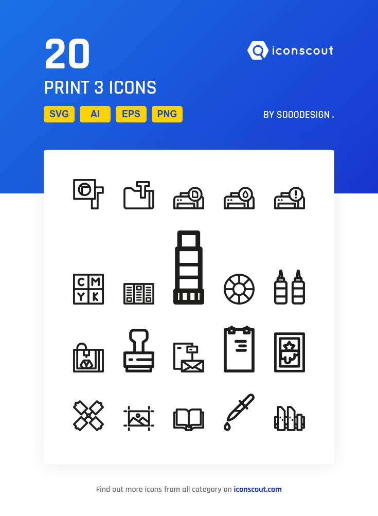 Download Print 3 Icon Pack Available In Svg Png Eps Ai Icon Fonts Icon Pack Icon Font Print