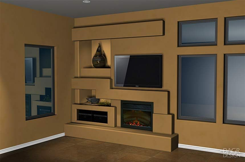 Custom drywall entertainment centers guesswork with a 3d design of your home entertainment Design plans for entertainment center