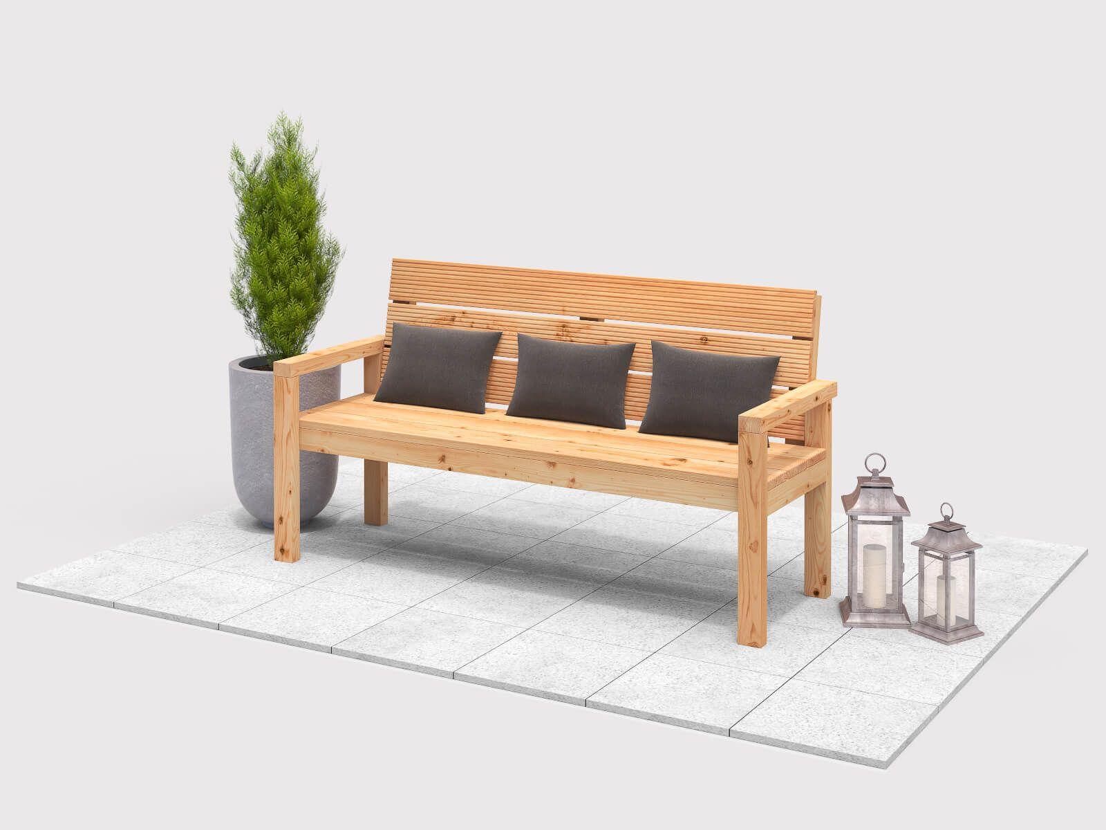 Gartenbank Georg selber bauen - Gartenmöbel | Gartenbank | Pinterest