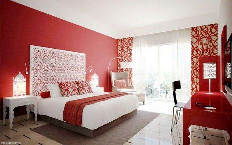 40 Imposing Bedroom Paint Design Ideas Red Bedroom Decor Minimalist Living Room White Bedroom Decor