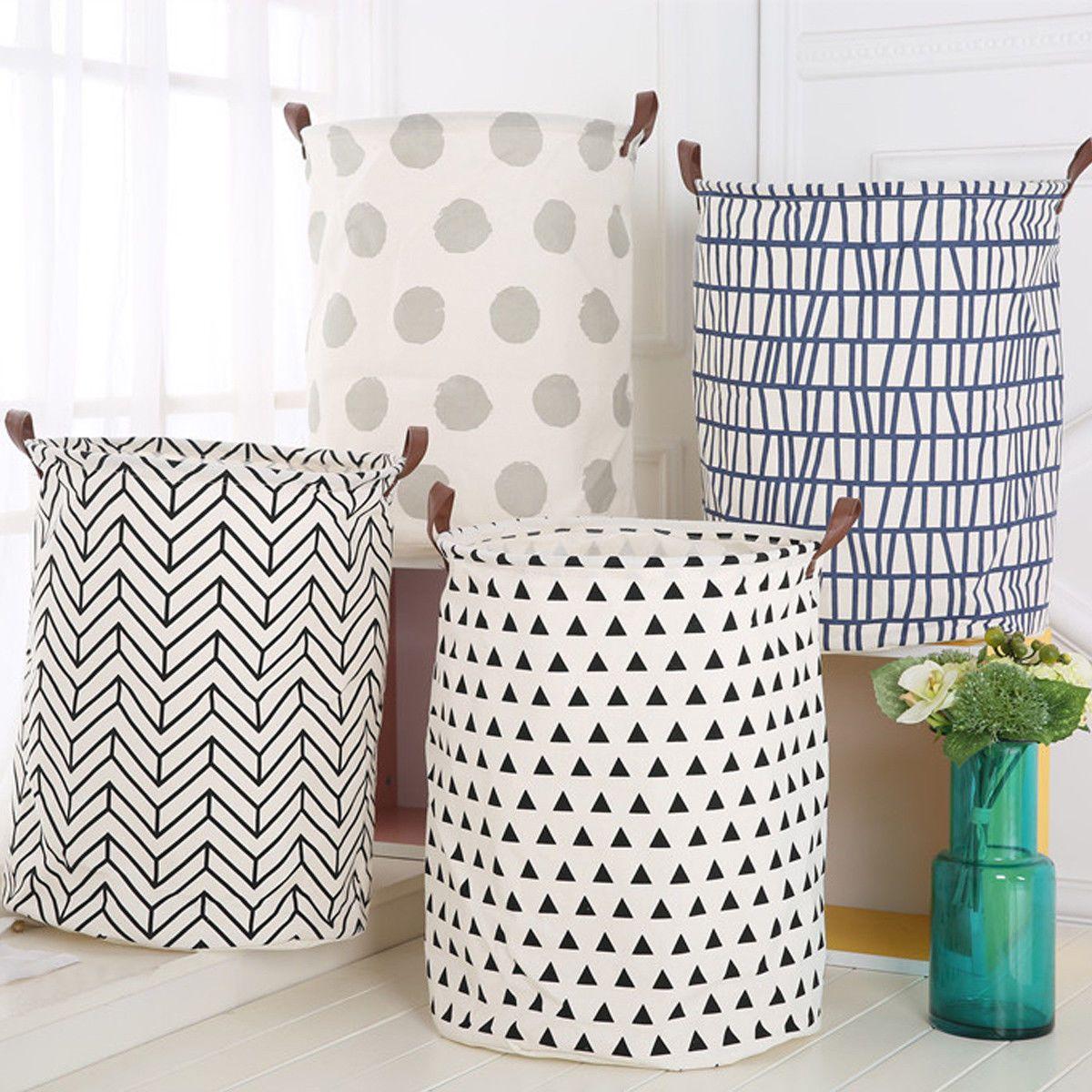 7 55 Aud Cotton Washing Clothes Laundry Basket Bag Hamper