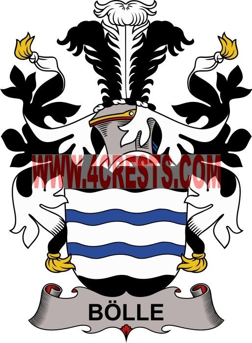 Bolle Coat Of Arms Family Crest Denmark By Name Symbol Family