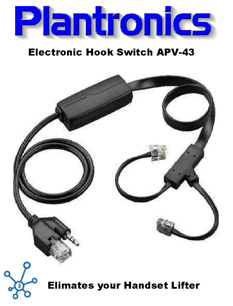 Plantronics Accessory Electronic Hook Switch APC-43 Cable