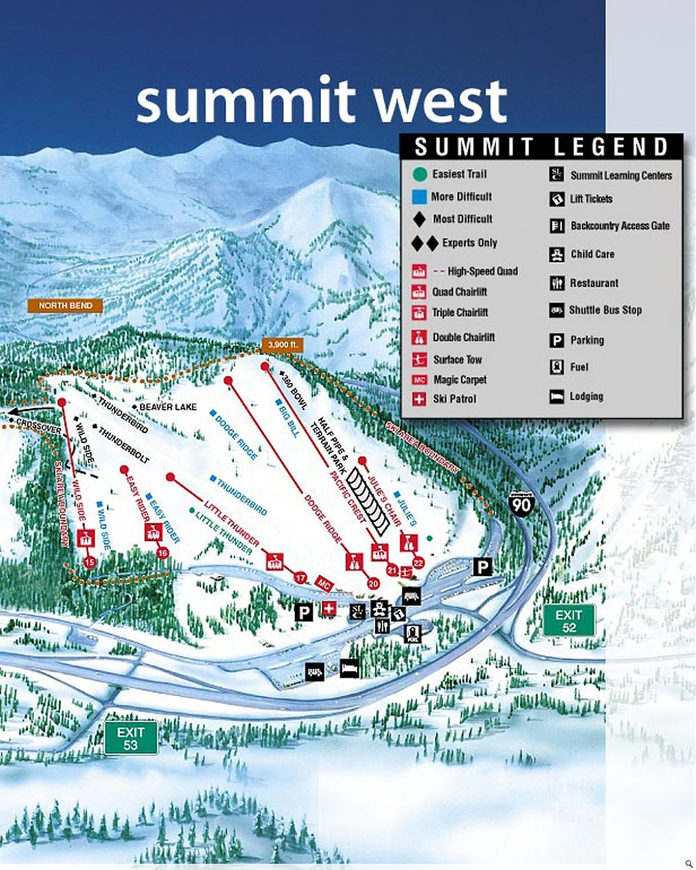Snoqualmie Pass Wa There Are Actually 4 Different Ski Areas On The