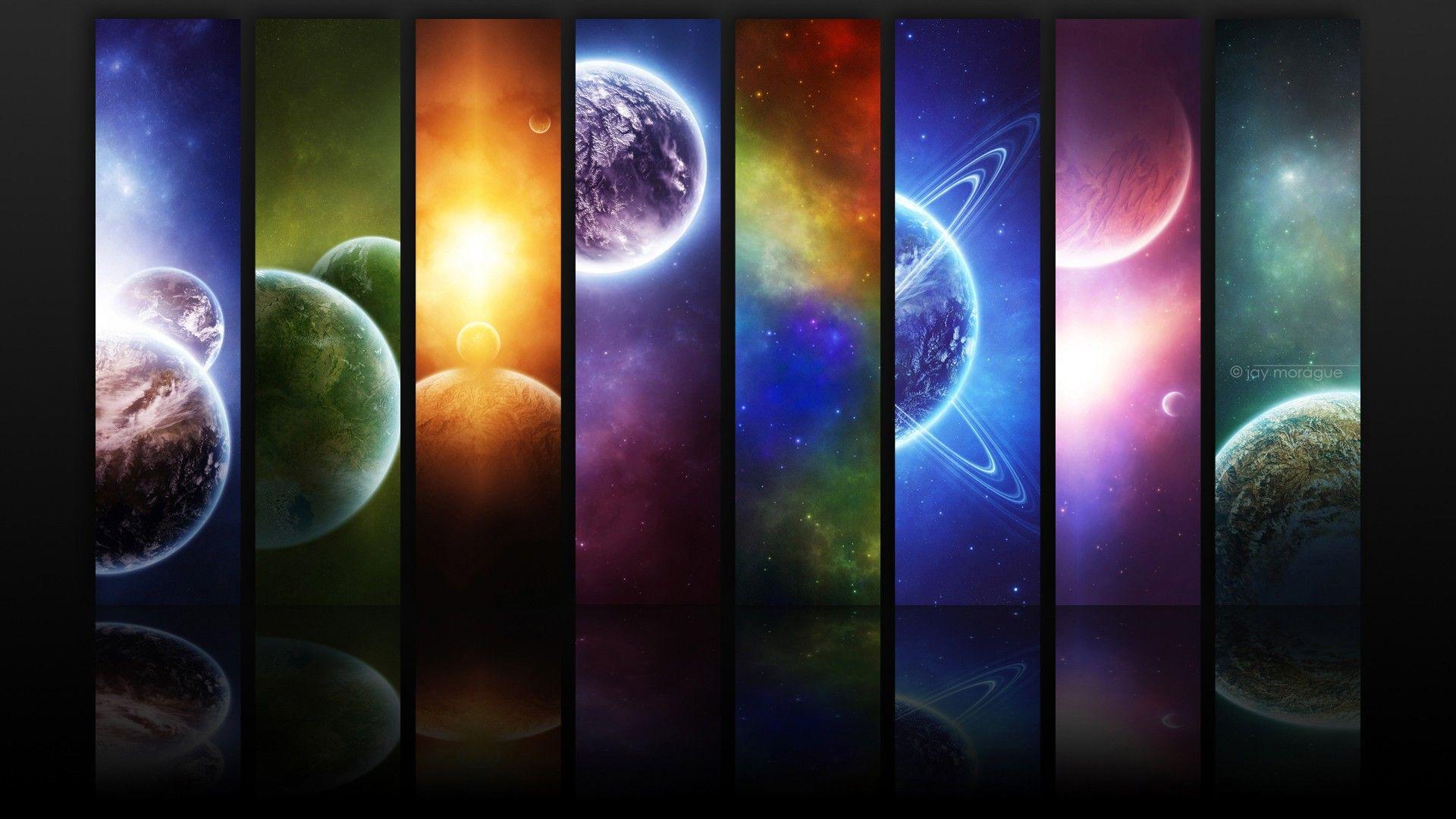 solar system digital art hd desktop wallpaper planet wallpaper digital art no