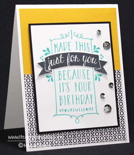 Todays Card Is All About How To Design Your Own Birthday Card And