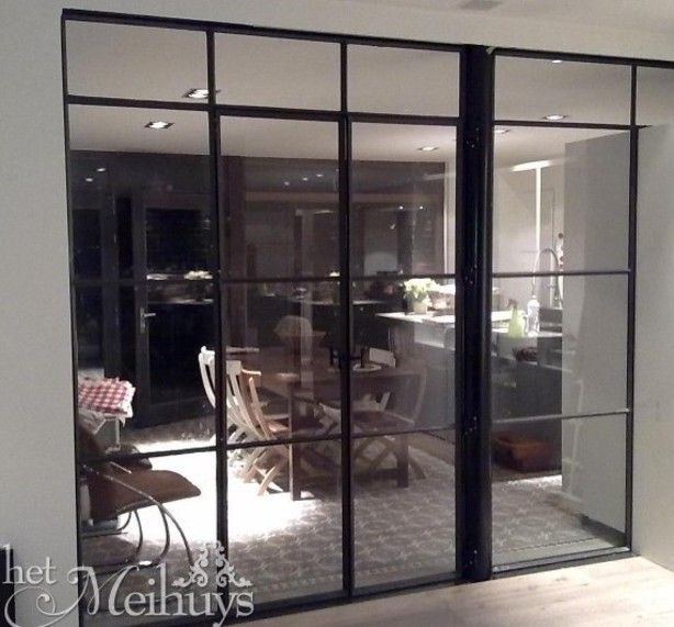 Tussendeur keuken woonkamer | stalen kozijn | Pinterest
