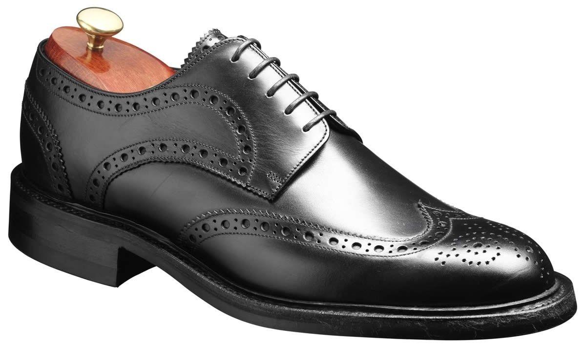 Barker Shoes – Grassington Black Calf – Country Brogue
