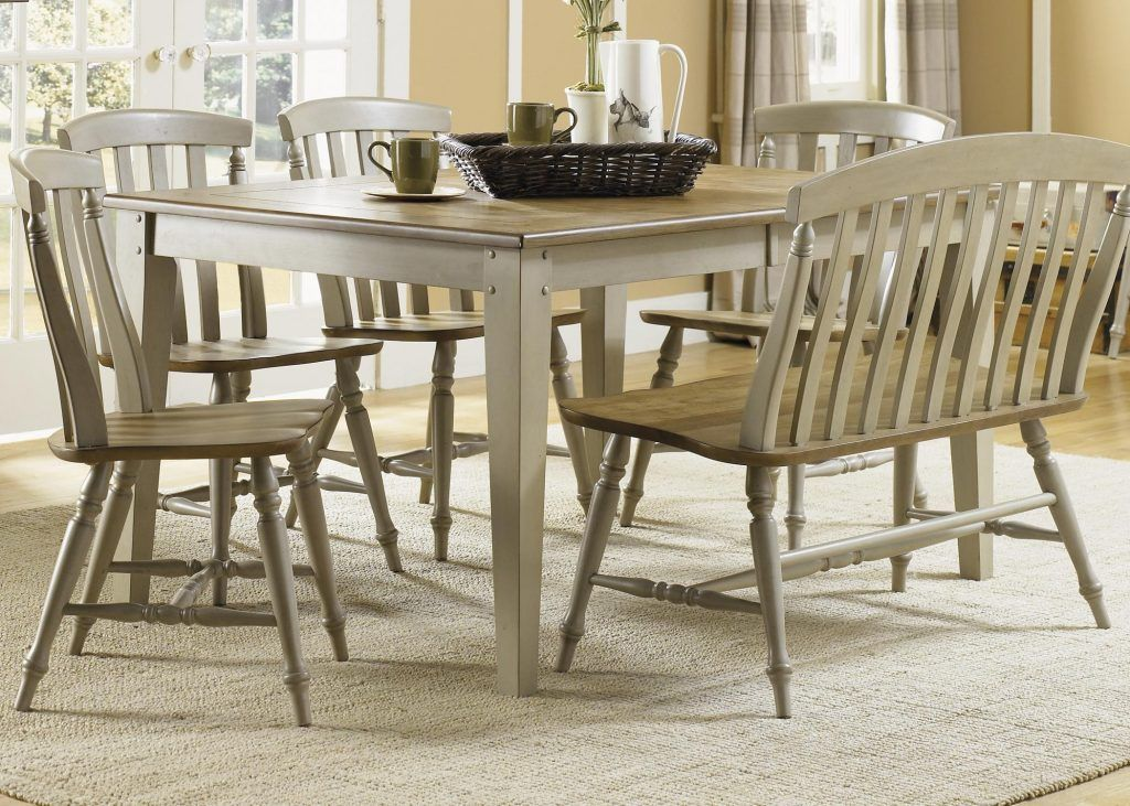 Dining Table Set With Bench Six Piece