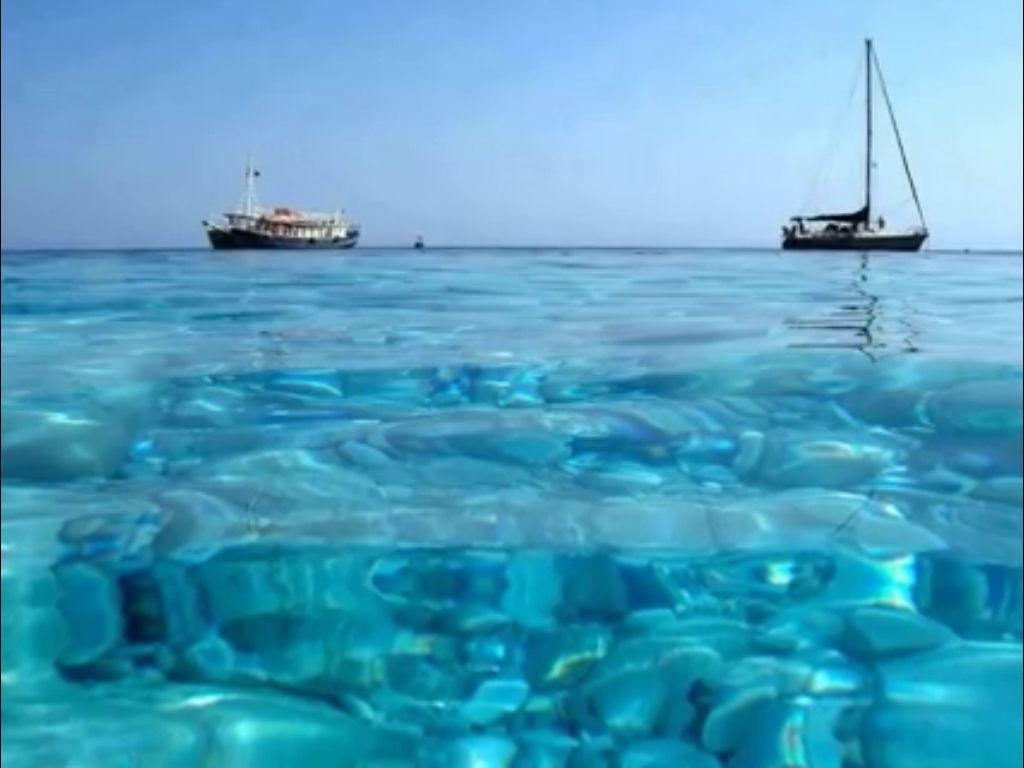 The wonderful sea of Sardinia Island , Italy