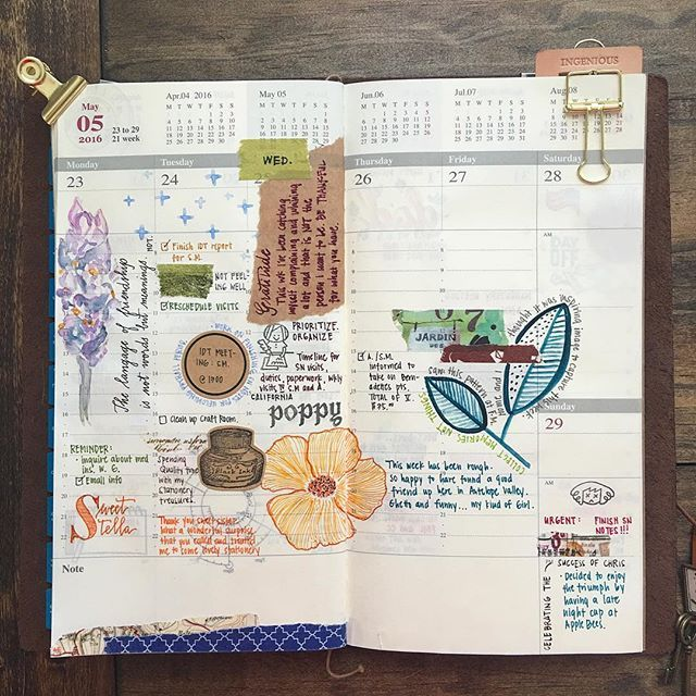 Wk 21. 2016 Unfinished Business:: As of late all my weekly entries have been incomplete. My daily life can get busy but I still do the best I can to document.  Happy Sunday everyone!  #jenniepae #travelersnotebook #planner #plannerlove #plannercommunity #planneraddict #documentlife #loveforanalogue #handwriting #watercolors #stamps #sakuralala #365sakuralala