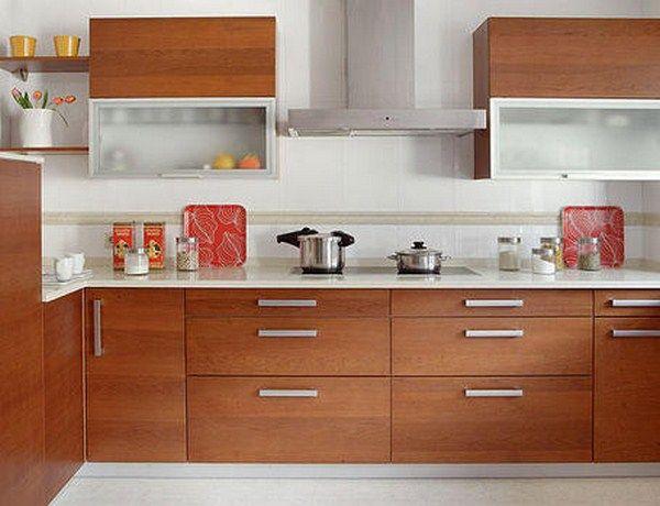 Sencilla distribucin de muebles para cocinas integrales