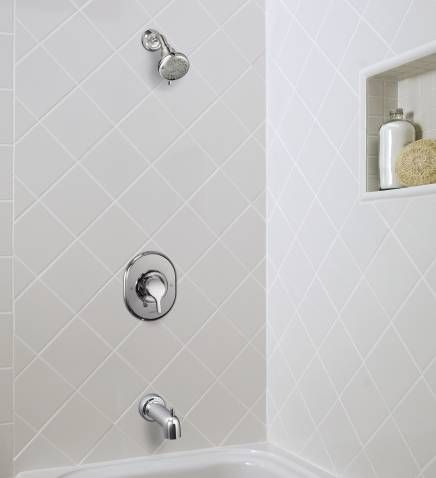 Danika chrome posi-temp® tub/shower - 82833 - Moen | Bathroom ...