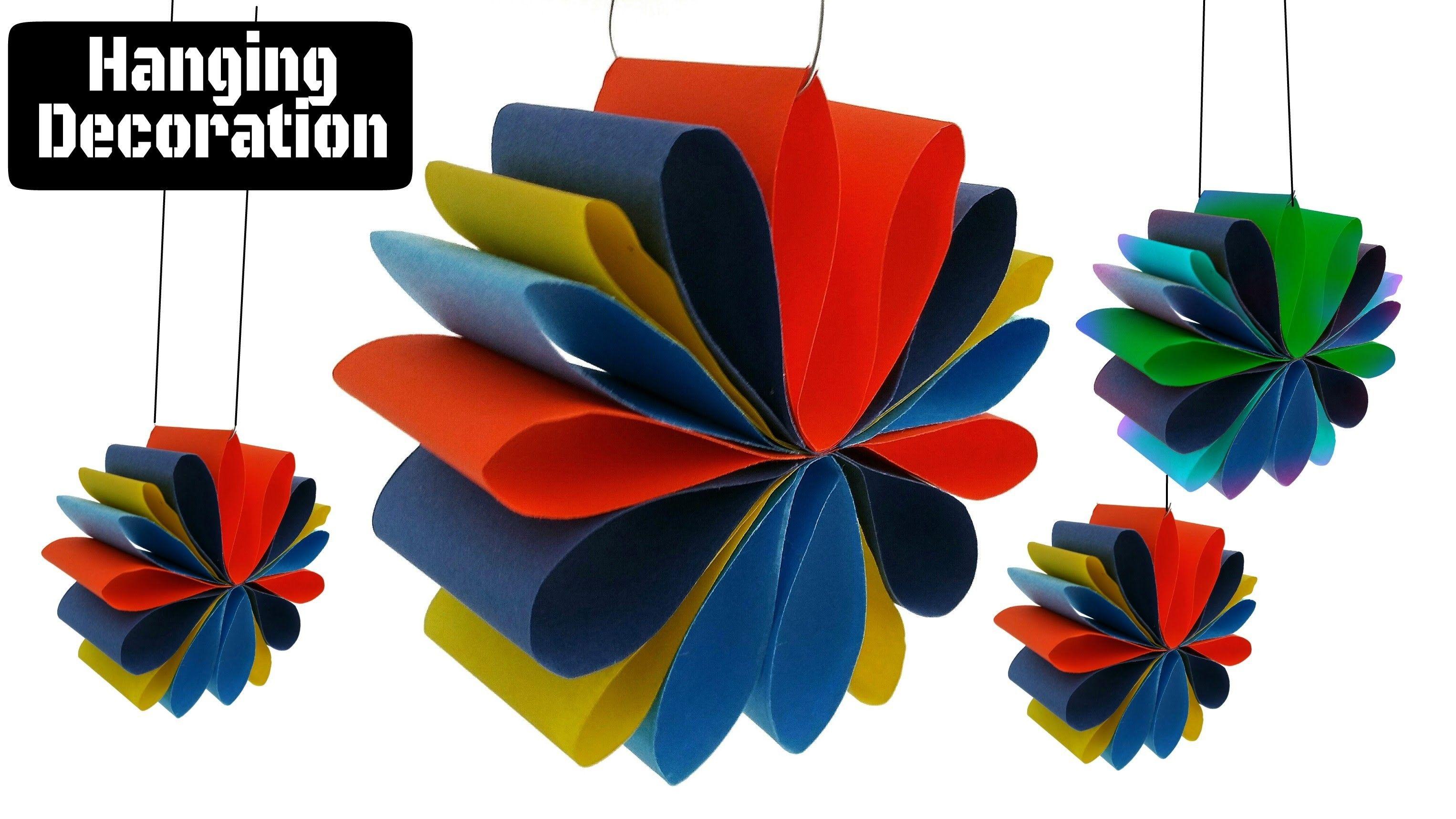 Craft Design 3 Hanging Paper Decoration