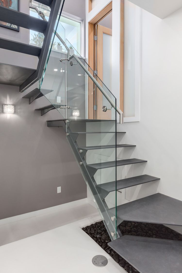 e 29th solar lane house by lanefab steel stair with glass guard rh pinterest com