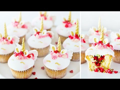 UNICORN CUPID CUPCAKES With Pop Rock Pinata Surprise | Valentines Treats How To Tutorial DIY - YouTube