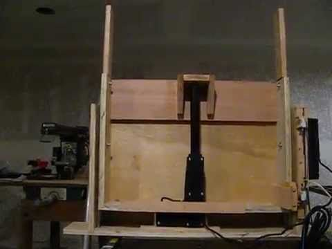 Do it yourself vertical tv lift home made youtube tv for Motorized vertical tv lift