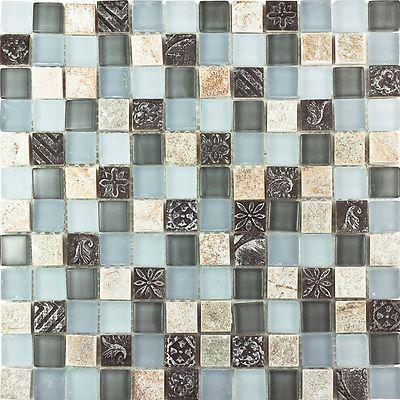 details about kitchen bathroom beige black deco stone and green blue rh pinterest com